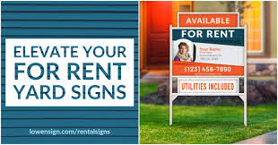 Elevate Your FOR RENT Yard Signs image.