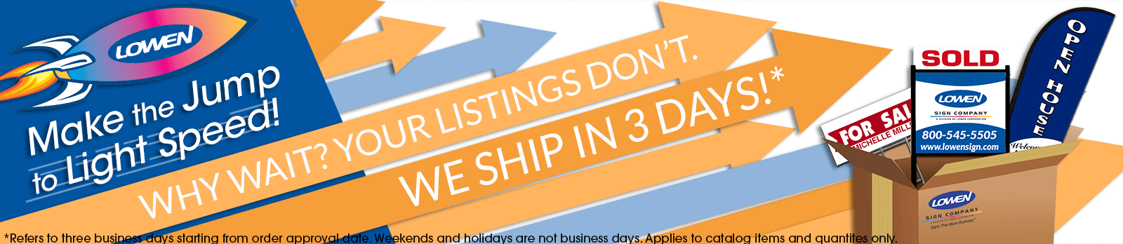 3 Day Shipping Banner