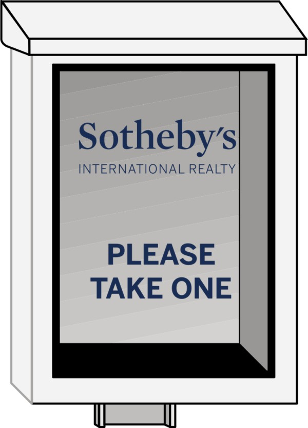 Sothebys Real Estate Sign White Plastic Yard Box For Angle