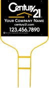 "real estate gold round rod sign frame and black panel unit, 24ga steel 18""x24"""