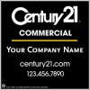 "Commercial Real Estate black Sign Panel printed on one side, 10mm Corrugated Plastic 48""x48"""