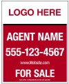 "real estate reflective hanging sign panel with grommets, 24ga steel 30""x24"""