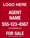 "real estate hanging sign panel with grommets, 24ga steel 30""x24"""