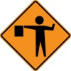 W20-7 Flagger (Symbol)-Temporary Traffic Control Sign