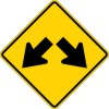 W12-1 Double Arrow-Warning Sign