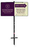 Real Estate Open House sign panel and angle iron sign stake, 24 GA steel 12x24