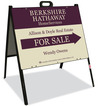 Real Estate Agent For Sale A-frame sign and panel unit, 24 GA steel 18x24