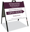 Real Estate Agent Open House A-frame sign and panel unit, 24 GA steel 18x24