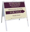 Real Estate Agent For Sale A-frame and sign panel unit, .050 polyethylene 18x24