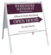 Real Estate Agent Open House A-frame and sign panel unit, .050 polyethylene 18x24