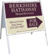 Real Estate For Sale A-frame and sign panel unit, .050 polyethylene 18x24