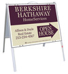 Real Estate Open House A-frame and sign panel unit, .050 polyethylene 18x24