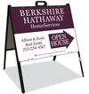 Real Estate Open House A-frame sign and panel unit, 24 GA steel 18x24