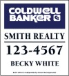 real estate agent magnet sign for vehicle advertising, 12x11