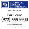 Commercial Real Estate Sign Panel printed on one side, 3MM Aluminum Composite 48x48