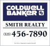 commercial real estate site sign panel printed on two sides, 24 GA steel 44x48