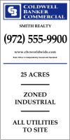 commercial real estate sign panel printed on one side, 10mm corrugated plastic 96x48