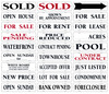 Real Estate Message Sign Rider, 24ga Steel 6x24