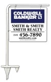 real estate tube sign stake and sign panel unit,  .090 polyethylene 22x24