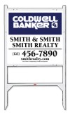 real estate angle iron sign frame and panel unit, 24 GA steel 22x24