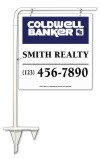 real estate tube sign stake and  sign panel unit, 24 GA steel 25x24