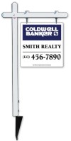real estate aluminum sign post and sign panel unit, 24 GA steel 25x24
