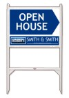 real estate open house angle iron sign frame and panel unit, 24 GA steel 18x24