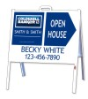 real estate 3D agent open house a-frame and sign panel unit, 24 GA steel 18x24