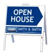 real estate 3D open house a-frame and sign panel unit, 24 GA steel 18x24