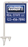 real estate tube sign stake and 3D sign panel,  .090polyethylene 22x24