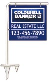 real estate tube sign stake and 3D sign panel, 24 GA steel 22x24