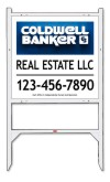 real estate angle iron sign frame and 3D panel unit, 24 GA steel 22x24