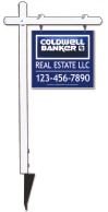real estate aluminum sign post and 3D sign panel unit,  .090 polyethylene 22x24