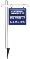 real estate aluminum sign post and 3D sign panel unit, 24 GA steel 22x24