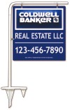 real estate tube sign stake and 3D sign panel, 24 GA steel  25x24