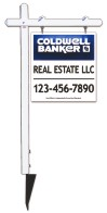 real estate aluminum sign post and3D panel unit, 24 GA steel  25x24