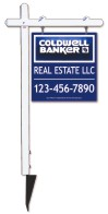 real estate aluminum sign post and 3D panel unit, 24 GA steel  25x24
