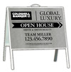 A-Frame and Open House Sign Panel Unit, 18x24, Linen Design