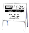 A-Frame and Open House Sign Panel Unit, 18x24, White Design