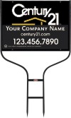real estate round rod sign frame and black sign panel unit, 24 GA steel 18x24