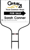 real estate agent white for sale round rod sign frame and panel unit, 24 GA steel 18x24
