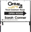 real estate agent open house A-frame and white sign panel unit,  .050 polyethylene 18x24