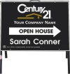 real estate agent open house A-frame and black sign panel unit,  .050 polyethylene 18x24