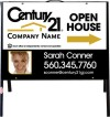 real estate photo open house a-frame and white sign panel unit,  .050 polyethylene 18x24