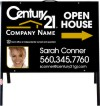 real estate photo open house a-frame and black sign panel unit, .050 polyethylene 18x24