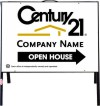 real estate open house a-frame and white sign panel unit, .050 polyethylene 18x24