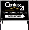 real estate open house a-frame and black sign panel unit, .050 polyethylene 18x24