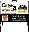 real estate photo open house a-frame and white sign panel unit, 24 GA steel 18x24