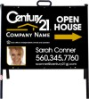 real estate photo open house a-frame and black sign panel unit. 24 GA steel 18x24