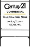 commercial real estate angle iron sign frame and white panel unit, 24 GA steel 48x48